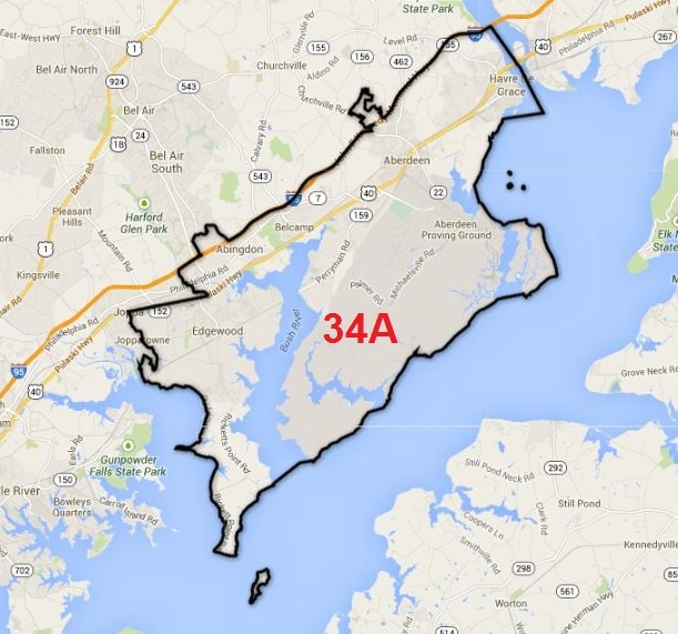 Map of Maryland District 34A